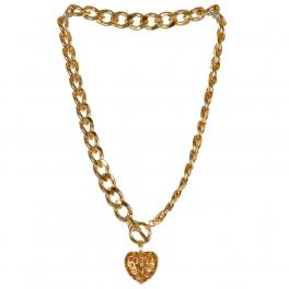 Wholesale L03D Dangling heart necklace GD