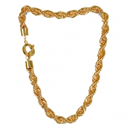 Wholesale L03D Twisted rope chain necklace GD
