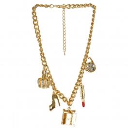Wholesale L03E Multi charm necklace GDCLR