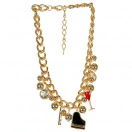 Wholesale L04A Piano charm pendant necklace GDMLT