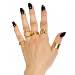 Wholesale L02C Multi style ring set GD