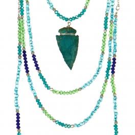 Wholesale L04E Multi strand beaded necklace ASM