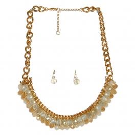 Wholesale L06B Faux Crystal Statement Necklace/ GOLD-