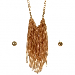 Wholesale L06C Waterfall Necklace/ GOLD