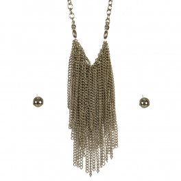 Wholesale L06C Waterfall Necklace/ RHODIUM