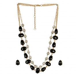 Wholesale L06A Faux Stone AND Crystal Layer Necklace/ GBK