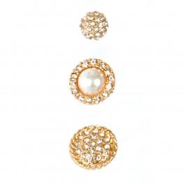 Wholesale L06E Stud Earrings/ GOLD/CLCR