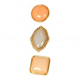Wholesale L06E Stud Earrings/GOLD BLUSH PEACH