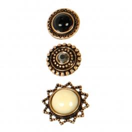 Wholesale L06E Stud Earrings/TURQUOISE/BURN SILVER