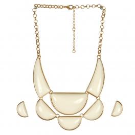 Wholesale L05C Pendant Necklace/IVORY-GOLD