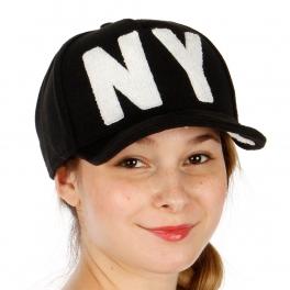 Wholesale R31A NY Wool Snapback Hat BKWHT