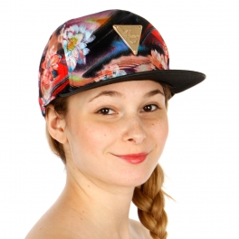 Wholesale R50B Spacey Flower Snapback Cap BLK