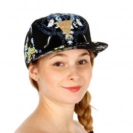 Wholesale S09B Leaves Print Snapback Hat BLK