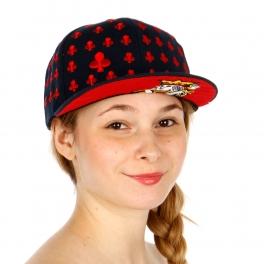 Wholesale R54A Clover Pattern Snapback Cap BLRED