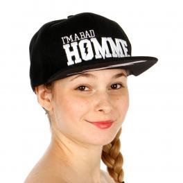 Wholesale R62B I'M A BAD HOMME Snapback Hat BLK