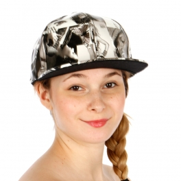 Wholesale R67A Magazine Print Snapback hat BLK