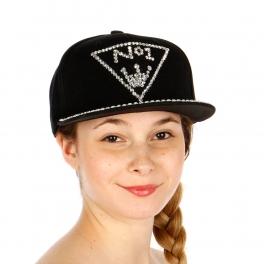 Wholesale T24C No1 Rhinestone Snapback Hat RDBLK