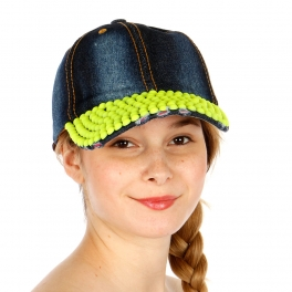 Wholesale T24C Denim Hat with Neon Ball Studs YWDBL