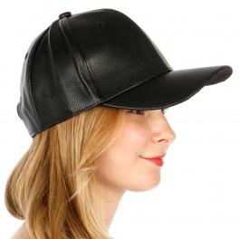 Wholesale T26D Plain Leather Snapback Hat BLK