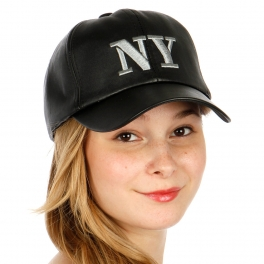 Wholesale T26D NY Embroidery Leather Hat RDBLK