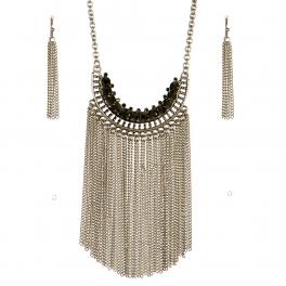Wholesale M09B Fringe Statement Necklace SB
