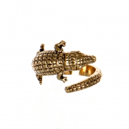 Wholesale M11D Crocodile Wrap Around Ring AG