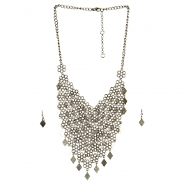 Wholesale N44C Flower Diamond Statement Necklace BS