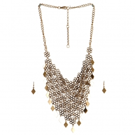 Wholesale N44C Flower Diamond Statement Necklace RS