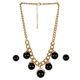 Wholesale N44C Round Stone Chain Necklace GBK