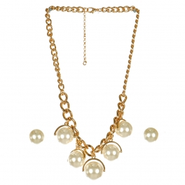 Wholesale N44C Round Stone Chain Necklace GCR