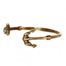 Wholesale M11C Faux Stone Anchor Arrow Bracelet RGB