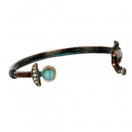 Wholesale M11C Faux Stone Anchor Arrow Bracelet OG