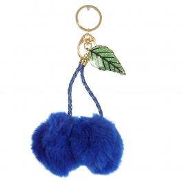 Wholesale P13B Double Fur Pom Pom Keychain BLTQ