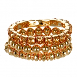 Wholesale M14B Faux Crystal Stretch Bangle Set GLPE