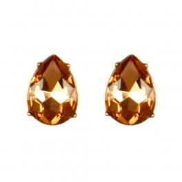 Wholesale M08E Tear Drop Faux Crystal Stud earrings GLPE