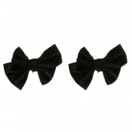 Wholesale M15A Simple Black Ribbon Shoe Clips BK