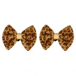 Wholesale M15A Leopard Ribbon Shop Clips BE