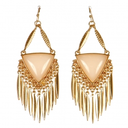 Wholesale M15E Triangle Duster Earrings GLPE
