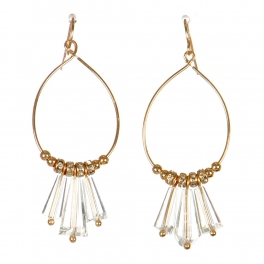 Wholesale M15E Faux Crystal Charm Earrings GCL