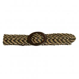 Wholesale L35D Two Tone Weaved Belt BR