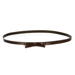 Wholesale L37C Slim Ribbon Belt Brown