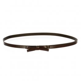 Wholesale L37C Slim Ribbon Belt Brown