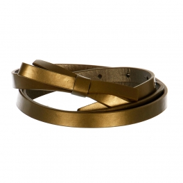 Wholesale L37C Slim Ribbon Belt Bronze