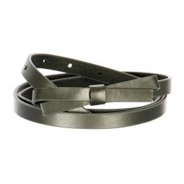 Wholesale L37C Slim Ribbon Belt D.Silver