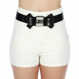 Wholesale L30E Fancy Satin Belt Black
