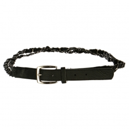 Wholesale L30E Double Chain Belt Black