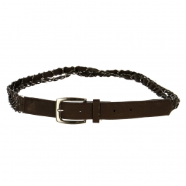 Wholesale L30E Double Chain Belt Brown