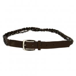 Wholesale L30E Double Chain Belt Brown