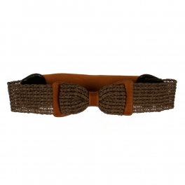 Wholesale L30E Paper Straw Ribbon Belt Brown