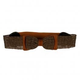 Wholesale L30E Paper Straw Ribbon Belt Brown